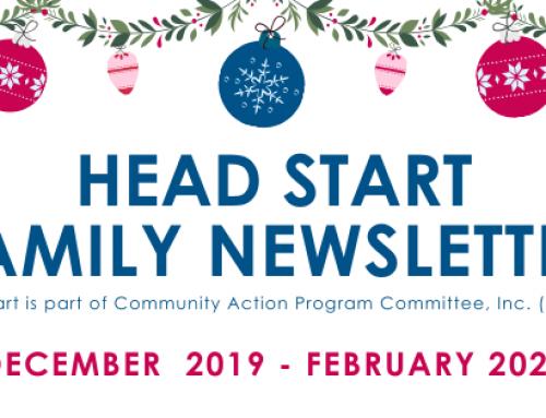 Head Start Family Newsletter:  December 2019 – February 2020
